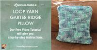 EZ Garter Ridge Pillow