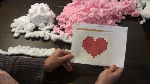 Loop Yarn Heart Pillow - Pattern