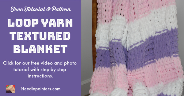 Loop Yarn Textured Blanket Tutorial - Facebook