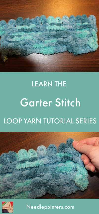 Loop Yarn Garter Stitch Tutorial - pin