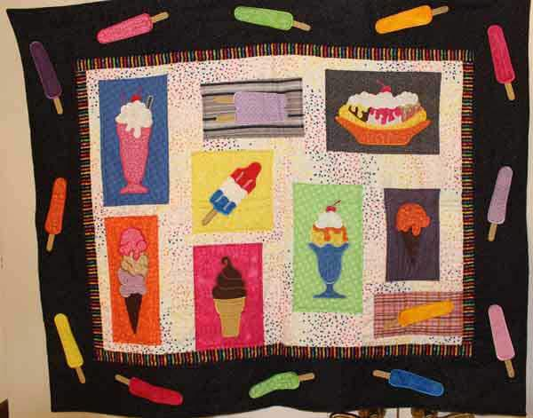 Lunch Box Quilts Scoop it Up Wall Hanging