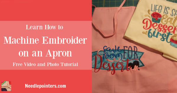 How to Machine Embroider on an Apron
