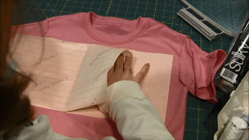 Machine Embroider T-Shirt Tutorial - Add Stabilizer
