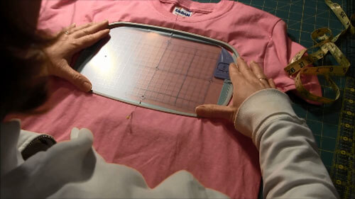 Machine Embroider T-Shirt Tutorial - Hoop Shirt