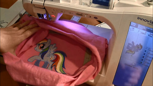 Machine Embroider T-Shirt Tutorial - Stitch the Design Steps