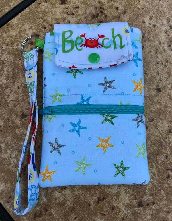 Beach Cell Phone Wallet