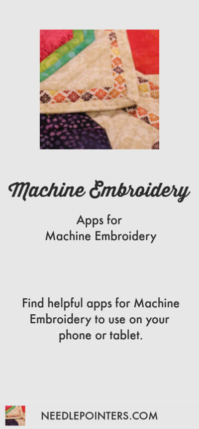 Apps for Machine Embroidery (iPhone/iPod/iPad)