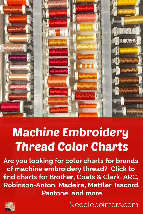 Machine Embroidery Thread Color Charts