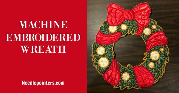 Machine Embroidered Wreath - Kreative Kiwi