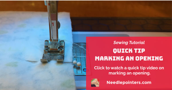 Sewing Quick Tip: Marking an Opening - Facebook