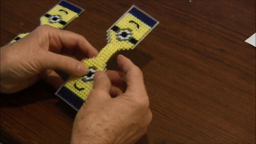 Minion Plastic Canvas Key ring - Bridge