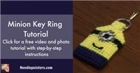 Minion Plastic Canvas Keyring