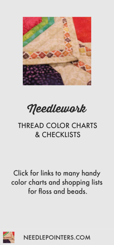 Thread Color Charts Checklists Needlepointers