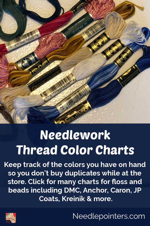 Thread Color Charts & Checklists for Needlework