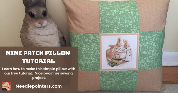 Nine Patch Pillow - facebook