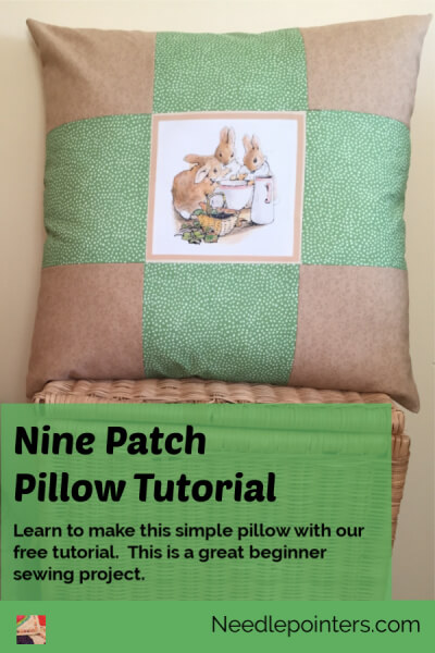 Nine Patch Pillow - pin