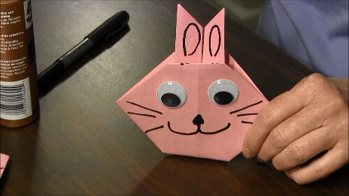 Make a Jumping Origami Bunny - Easter and Spring Crafts - Aunt ... | 281x500