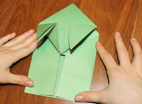 Origami Frog: Step 13