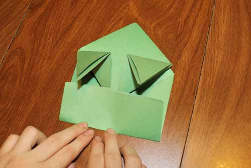 Origami Frog: Step 14