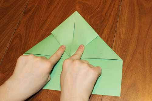 Origami Frog: Step 9