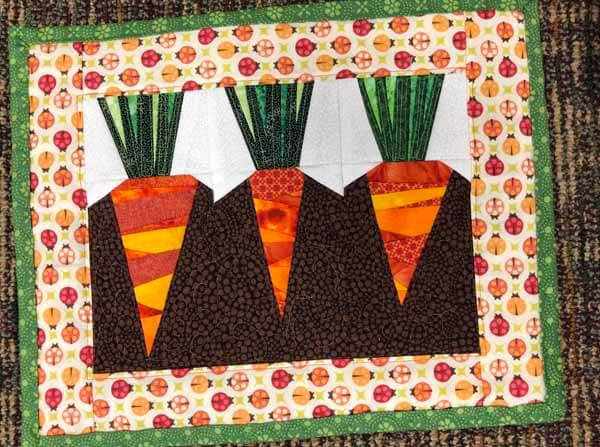 Paper Pieced Pattern - Carrot Placemat