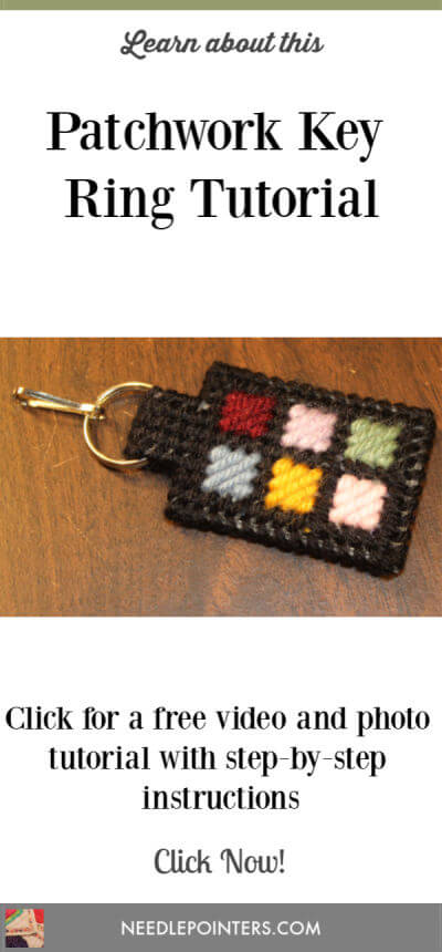 Patchwork Zipper Pull or Keyring