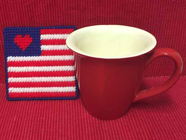 Patriotic Flag Coaster Tutorial Finished with Glass