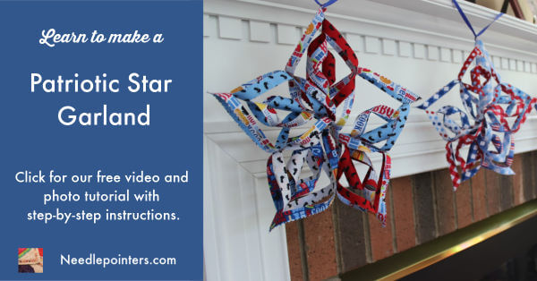Patriotic Star Garland