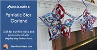 Patriotic Star Garland Tutorial