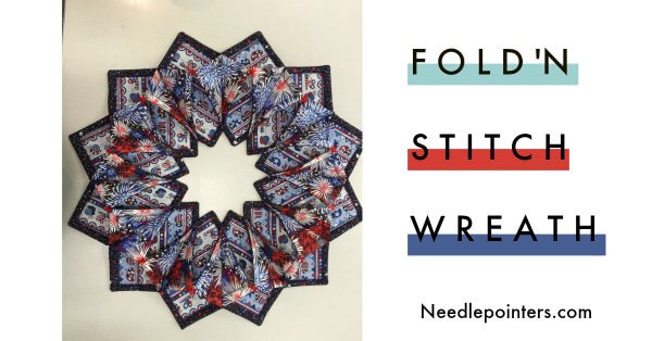 Patriotic Fold'n Stitch Wreath - Facebook