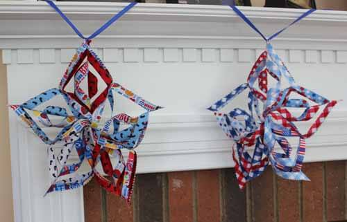 Patriotic Star Garland - Other two star closeup