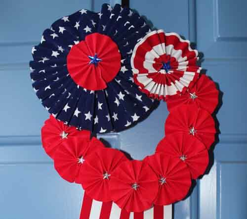 Patriotic Wreath - Finished Close Up