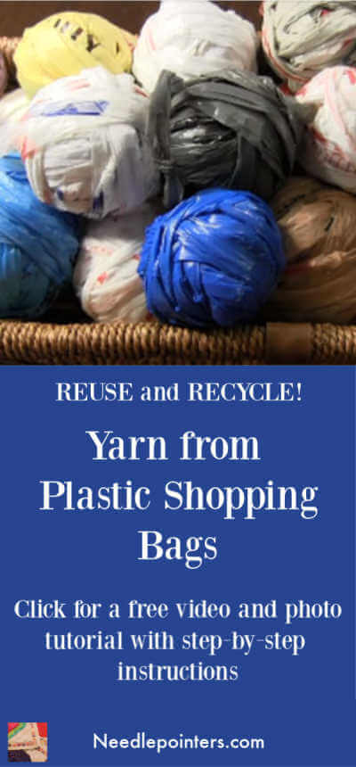 Plastic Bag Yarn Tutorial - Pin