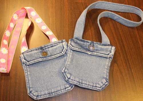 Recycled Jeans Pocket Handbag