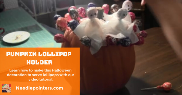 Pumpkin Lollipop Holder
