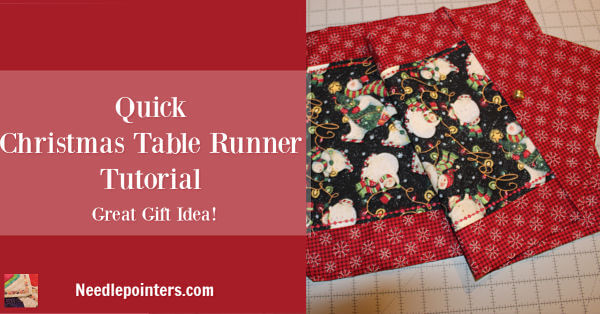 Quick Table Runner - Christmas Pin 2