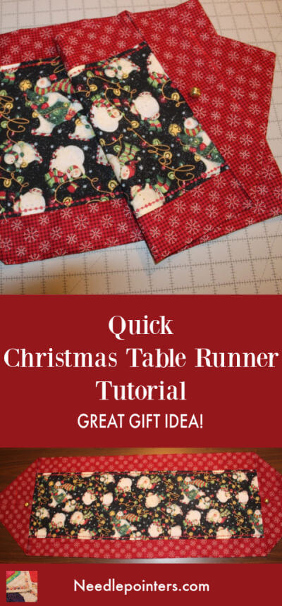 Quick Table Runner - Christmas Pin