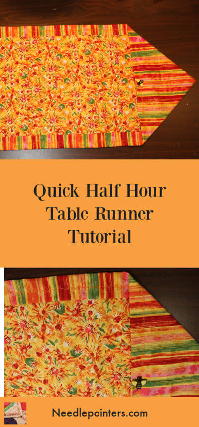 Quick Table Runner - Spring Table Runner Pin