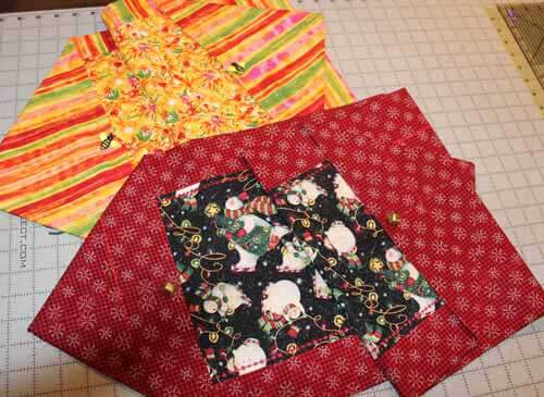 Quick Table Runner - Two Finished Table runners