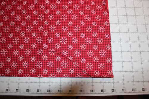 Quick Table Runner - Cut Background Fabric