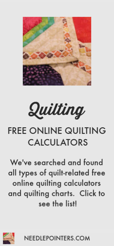 Free Online Quilt Calculators and Charts