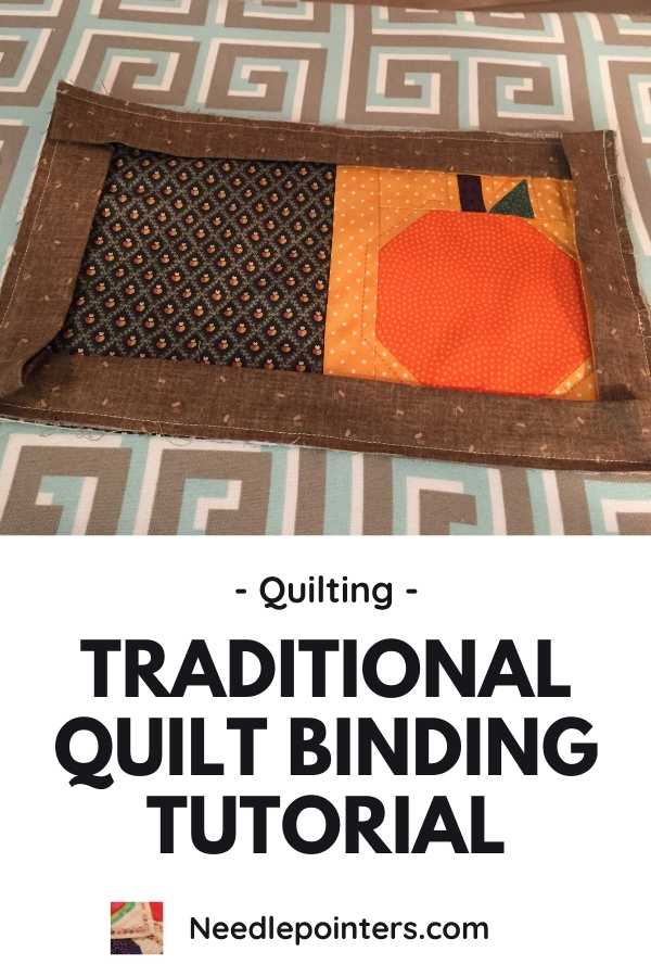 Traditional Quilt Binding Tutorial - pin