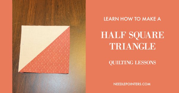 How to make a Half Square Triangle in Quilting