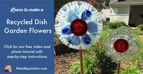 Garden Art Dish Flowers - Facebook ad