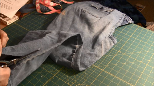 Recycled Jean Pocket Bag Tutorial - Cut Apart Jeans