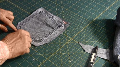 Recycled Jean Pocket Bag Tutorial - Pin Pieces Together