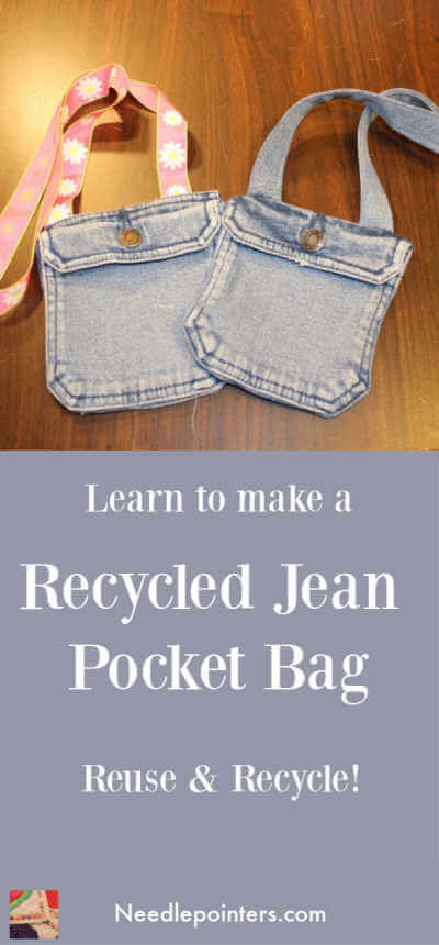 Recycled Jean Pocket Bag Tutorial - Pin