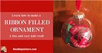 Christmas Ribbon Filled Ornament