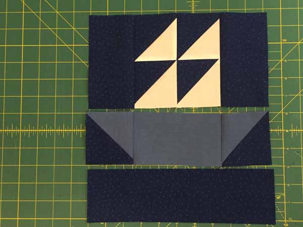 Sailboat Quilt Block - Sections