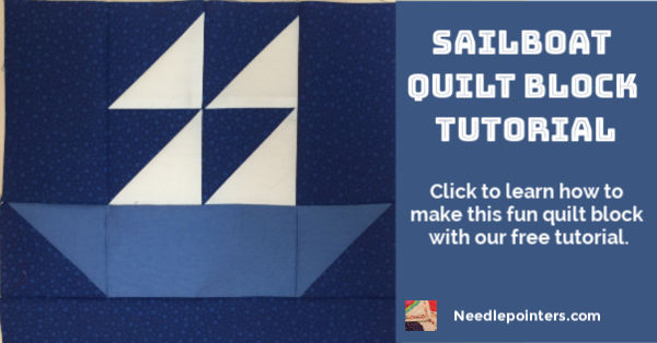 Easy Sailboat quilt Block pattern